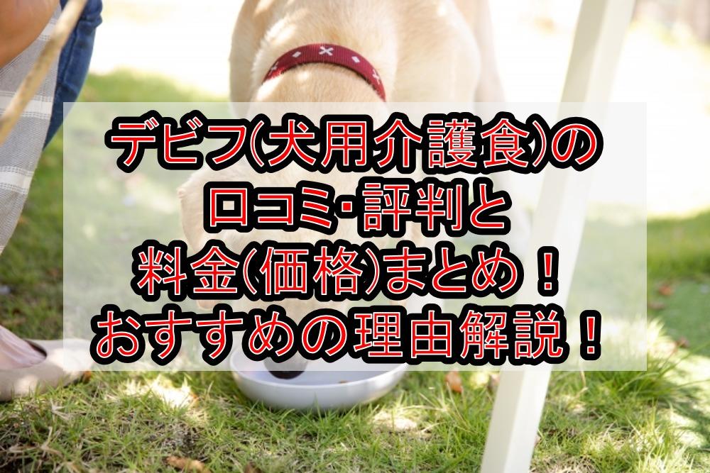 デビフ(犬用介護食)の口コミ・評判と料金(価格)まとめ!おすすめの理由を徹底解説!