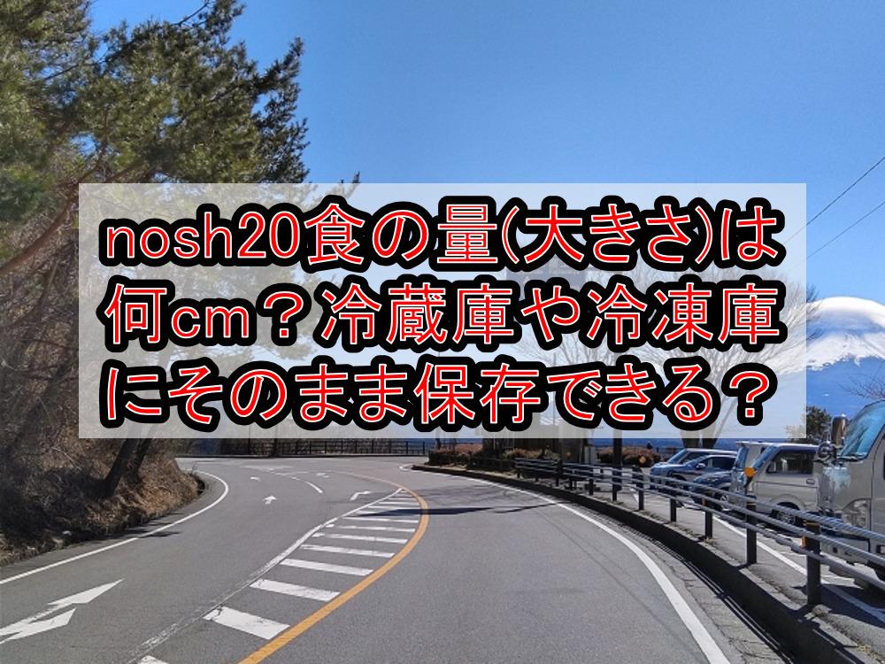 nosh20食の量(大きさ)は何cm?冷蔵庫や冷凍庫にそのまま保存できる?
