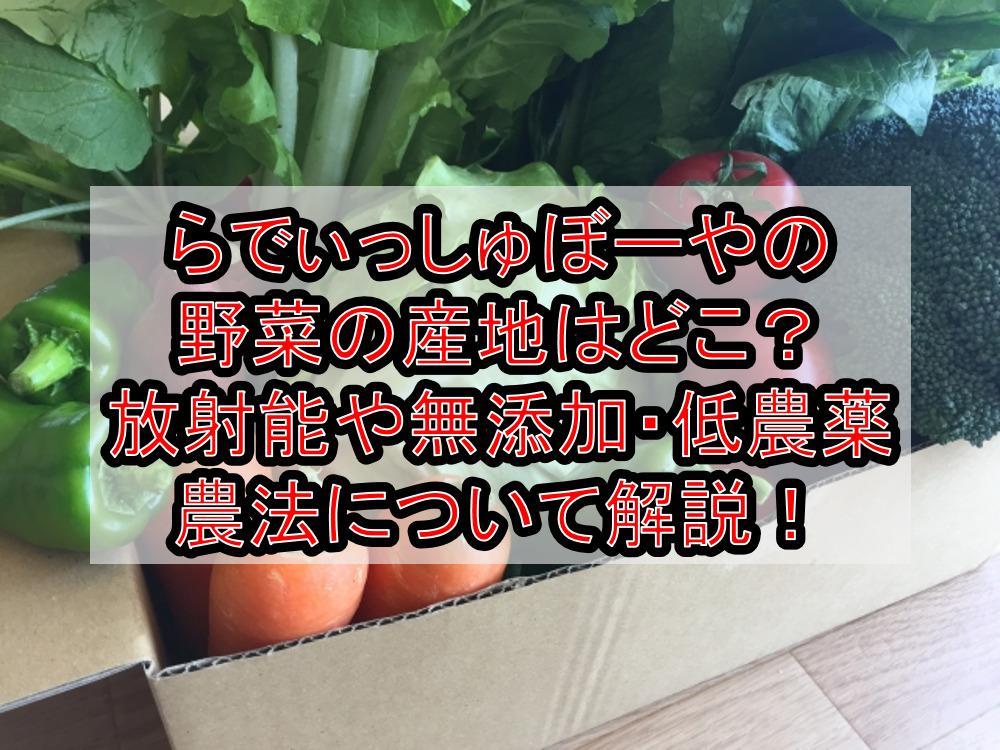 らでぃっしゅぼーやの野菜の産地はどこ?放射能や無添加・低農薬農法について徹底解説!