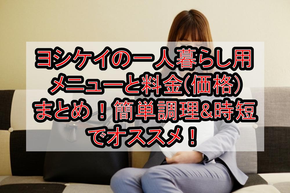ヨシケイの一人暮らし用メニューと料金(価格)まとめ!簡単調理&時短でオススメ!