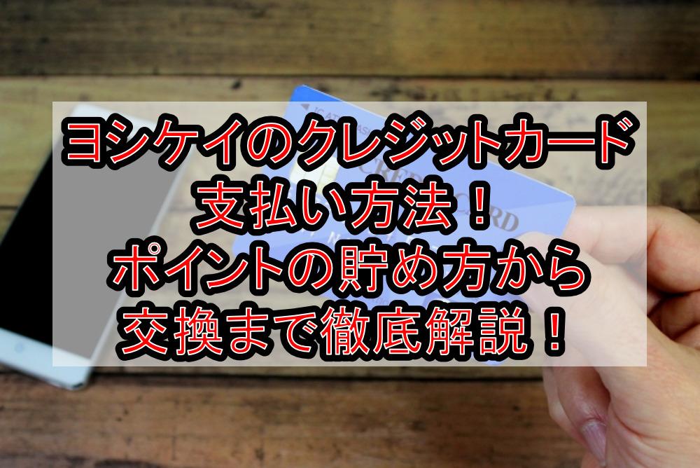ヨシケイのクレジットカード支払い方法!ポイントの貯め方から交換まで徹底解説!