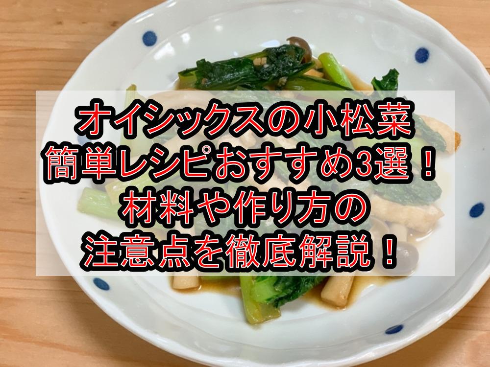 オイシックスの小松菜簡単レシピおすすめ3選!材料や作り方の注意点を徹底解説!